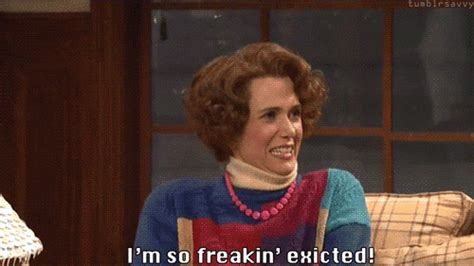 excited gif so freakin excited gif excited omg kristenwiig discover gifs