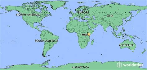 kenya on map of world where is kenya where is kenya located in the world