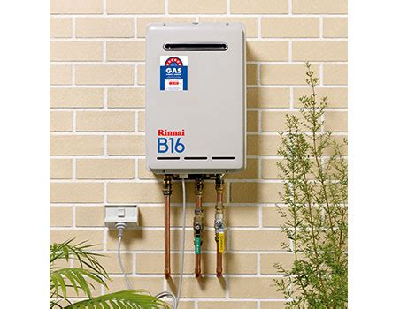 Water Heater Rinnai 30 Liter rinnai b16 gas water heater 50 degs the gas showroom