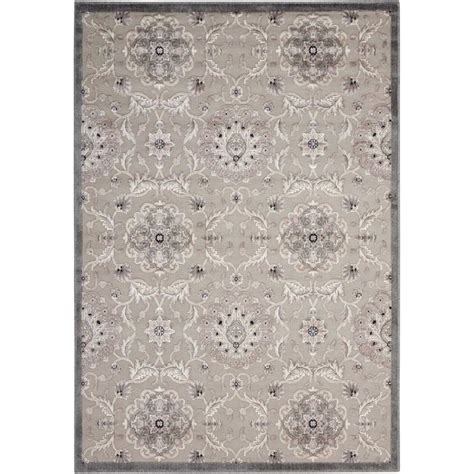 graphic rug nourison graphic illusions grey 7 ft 9 in x 10 ft 10 in area rug 118066 the home depot