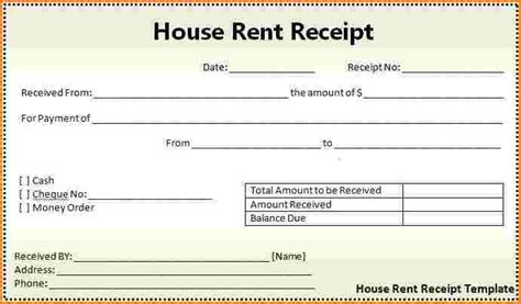 rent receipt template free india 7 house rent receipt template restaurant receipt