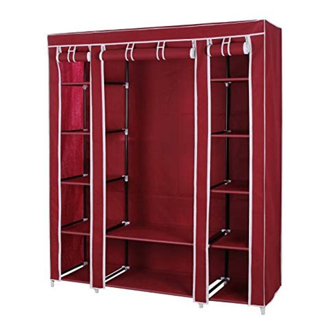 Fabric Wardrobe Storage by Songmics 59 Quot Portable Clothes Closet Non Woven Fabric