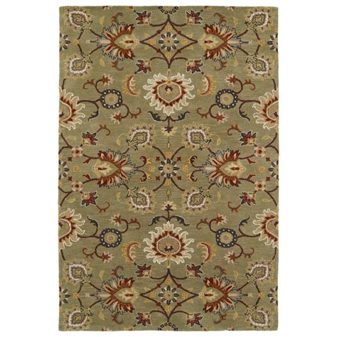 area rugs 50 kaleen middleton green 3 ft x 5 ft area rug mid02 50 35 the home depot