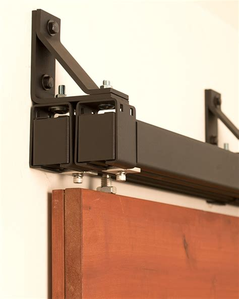 ceiling mount barn door hardware bypass box rail sliding hardware 400 lb real sliding