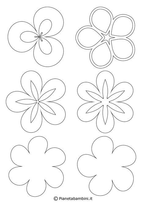 disegni di fiori da colorare e ritagliare 81 sagome di fiori da colorare e ritagliare per bambini