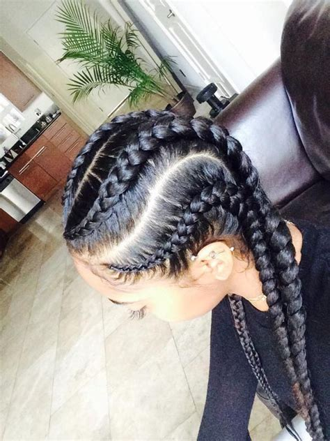 black hair braids and big rows 8 big corn row styles we are loving on pinterest