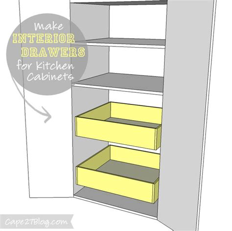 Add Drawers To Kitchen Cabinets how to add interior drawers to kitchen cabinets