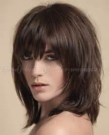 layered medium lenght hair with bangs medium layered haircuts with bangs 2016