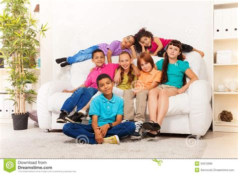 school boys and at home together stock image image