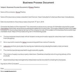 Business Process Document Template Example Policies And Procedures Titledescription Case