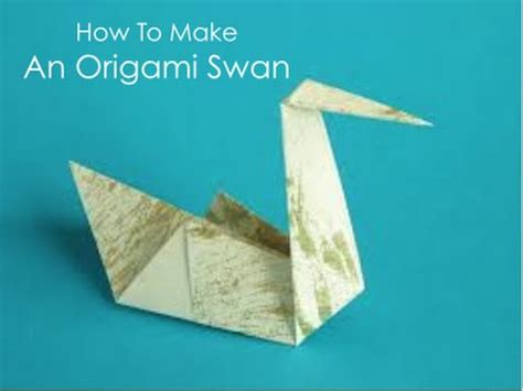 How To Make A Paper Swan Out Of Triangles - how to make an origami swan