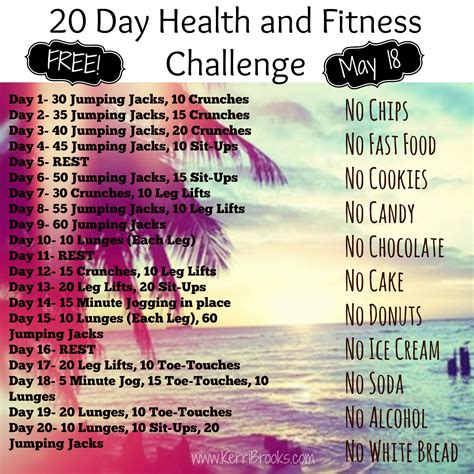 20 day workout challenge take back 20 day challenge healthy living from