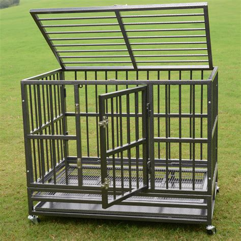 dog crate kennel heavy duty pet cage playpen  metal tray exercise pan top dog supply