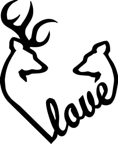 heartbeat tattoo with deer deer and doe heart browning love heart deer buck and doe