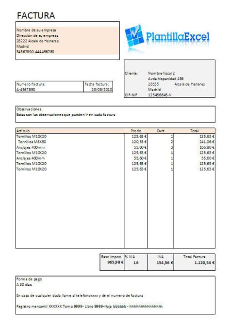 Ejemplo De Factura En Word | ejemplo de factura ordinaria en word modelos de facturas