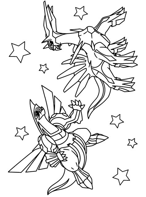 pokemon coloring pages palkia free coloring pages of chibi dialga