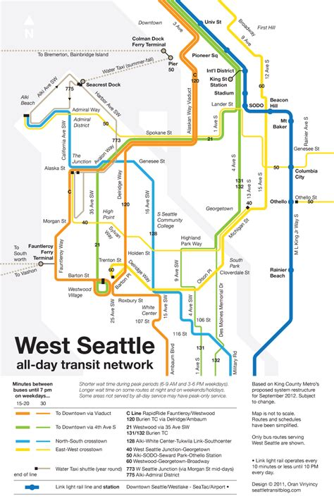 seattle map transportation editorial king county be bold