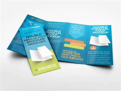 Couture Trifold Travel In Mock by Parallel Fold Brochure Mock Up By Idesignstudio