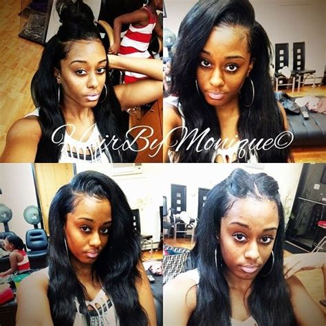 3 way part hairstyle 3 part sew in weave wigs and pieces pinterest