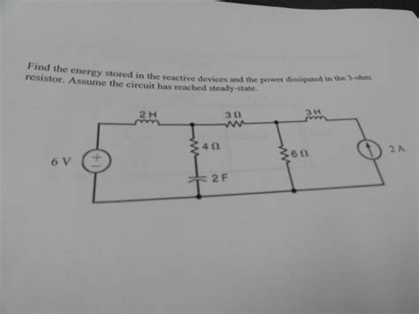 determine the power dissipated by the 40 ohm resistor find the energy stored in the reactive devices and chegg