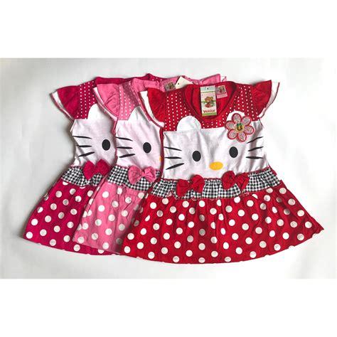 Dress Anak Perempuan Hello cek harga baru bayie setelan baju bayi dress perempuan