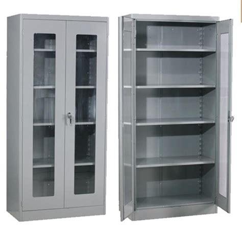 Metal Storage Cabinet With Glass Doors Best Storage Metal Storage Cabinet With Glass Doors
