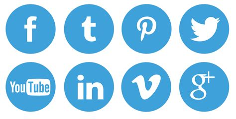 Free Social Media Search 18 Blue Social Icons Images Social Media Icons Blue Search Icon And Free