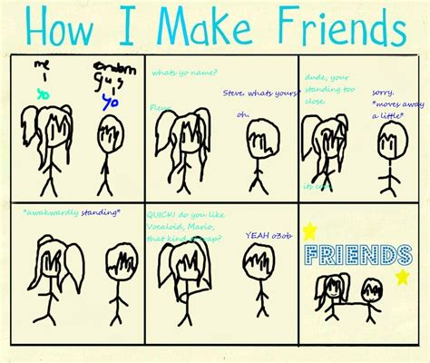 How Do I Make A Meme - how i make friends meme 8d by mini smiley on deviantart