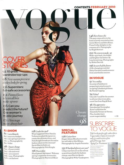 Pages Magazine by Nicole7128 Analysis Of Vogue S Contents Page