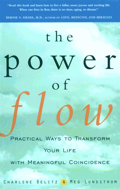 in the flow books the delight of synchronicity the power of flow