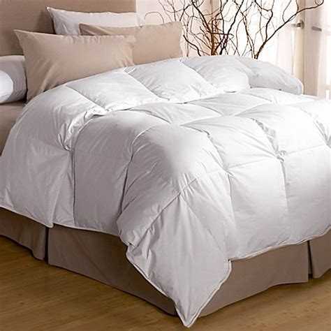 beyond down comforter restful nights 174 premium down comforter in white bed bath