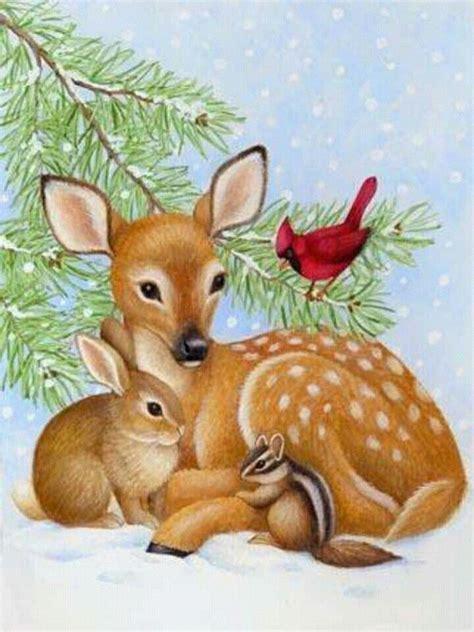 pin  lizette pretorius  christmas animals christmas paintings christmas animals