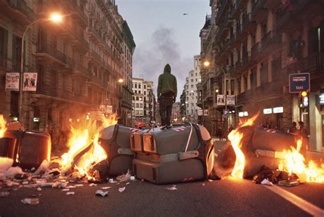 barcelona unrest a sunny afternoon of rioting in barcelona vice united