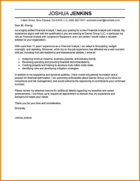 10 financial analyst cover letter exles financial