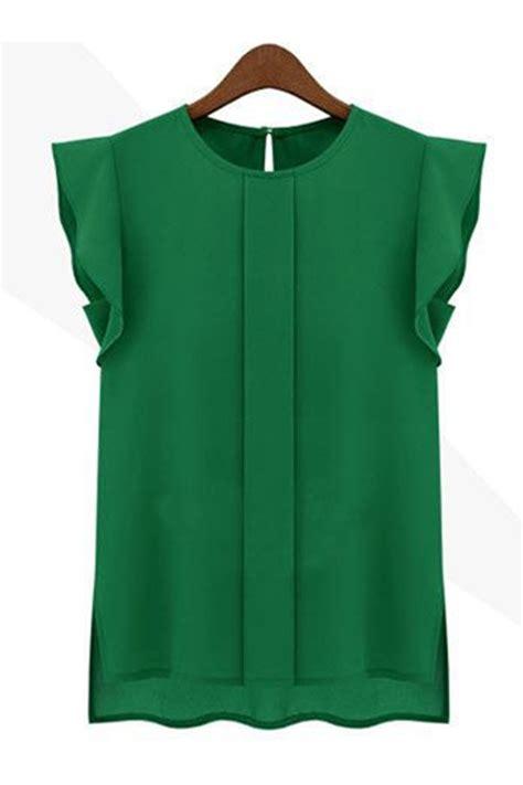 pattern chiffon shirt kettymore women solid pattern chiffon shirt and blouse