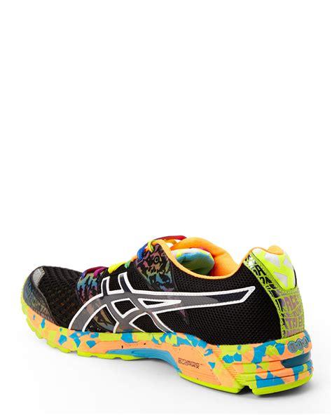 noosa sneakers asics black multicolor gel noosa tri 8 sneakers in black