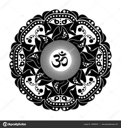 imagenes en blanco y negro de mandalas mandala en blanco y negro vector henna tatoo s 237 mbolo