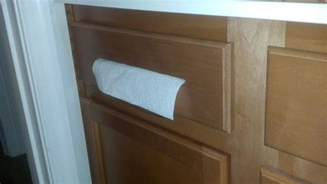 diy paper towel dispenser road to the ravenna diy cabinet paper towel dispenser