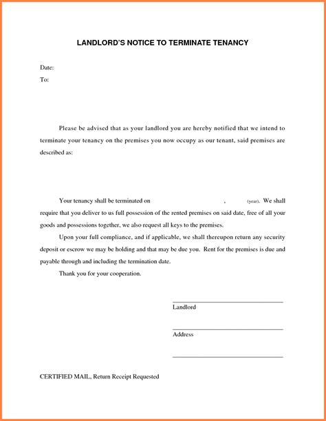 Lease Discontinue Letter 19 luxury terminate lease agreement letter sle pictures