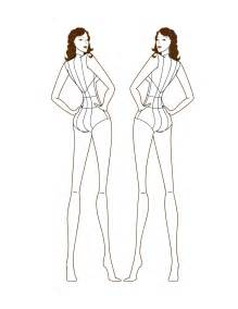 pin female fashion croquis blank sketches 456 image