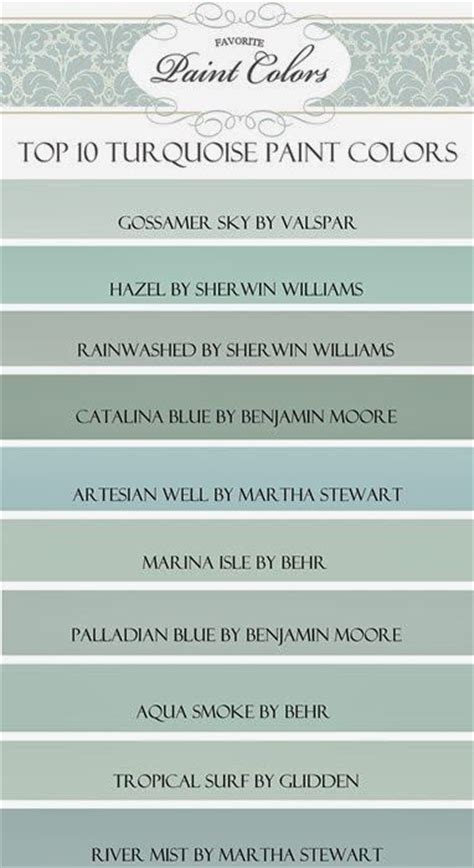 favorite green paint colors top 10 turquoise paint colors