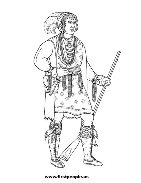 indian chief coloring page seminole indian clipart 33