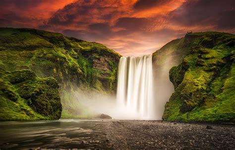 iceland waterfall hd wallpapers 4k fonds d ecran islande chute d eau montagnes rivi 232 res