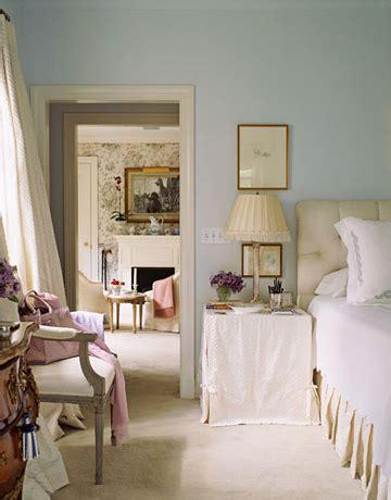 palladian blue bedroom skirted bedside table traditional bedroom benjamin
