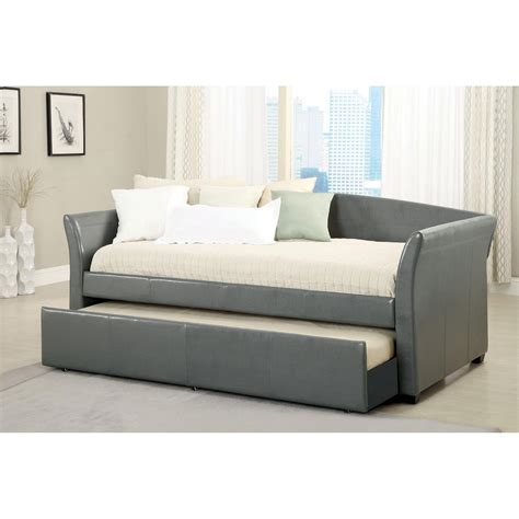 Daybed With Pop Up Trundle Bed Daybed With Pop Up Trundle Satin Black Finish Daybed Trundle Bed Mattress Black Daybed