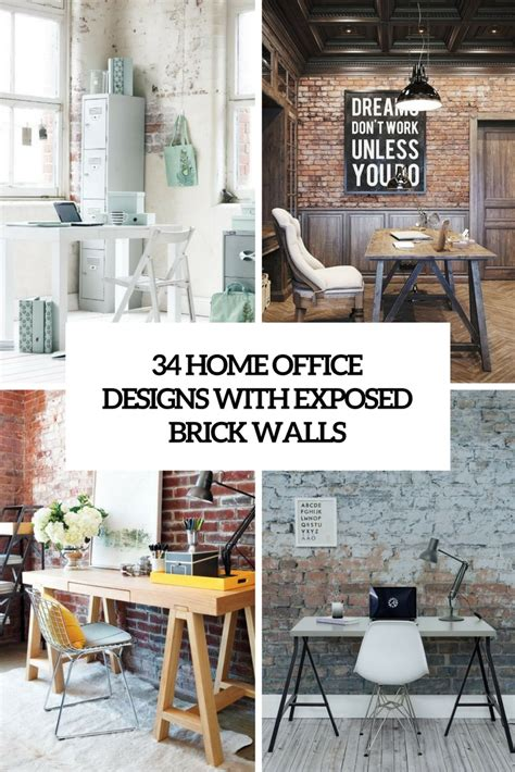 home with exposed brick and 34 home office designs with exposed brick walls digsdigs