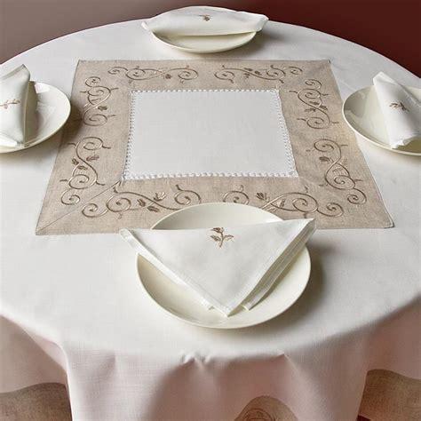tovaglie da tavola ricamate a mano tovaglia giulia rotonda ricami e pizzi