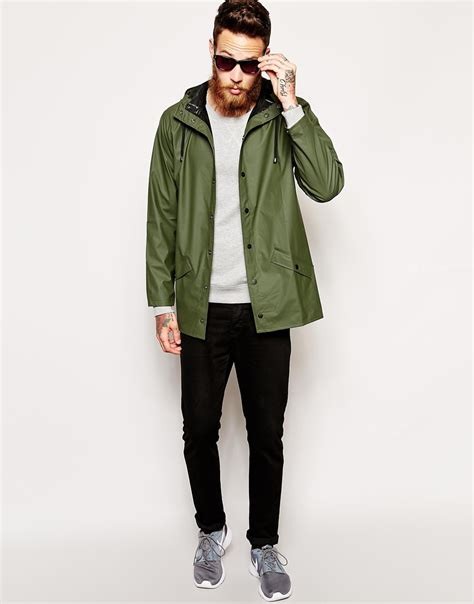 Rains Waterproof Jacket rains waterproof jacket in green for lyst