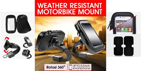 Touch U Stand Sandaran Hp Berkualitas fleco holder spion sepeda motor waterproof bracket hp gps
