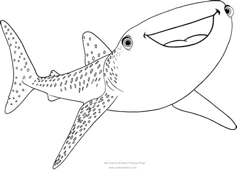 Destiny The Whale Shark Finding Dory Coloring Pages Whale Shark Coloring Pages